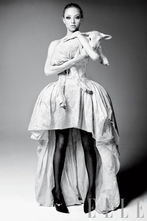 Amanda Seyfried... I love the shape of her face