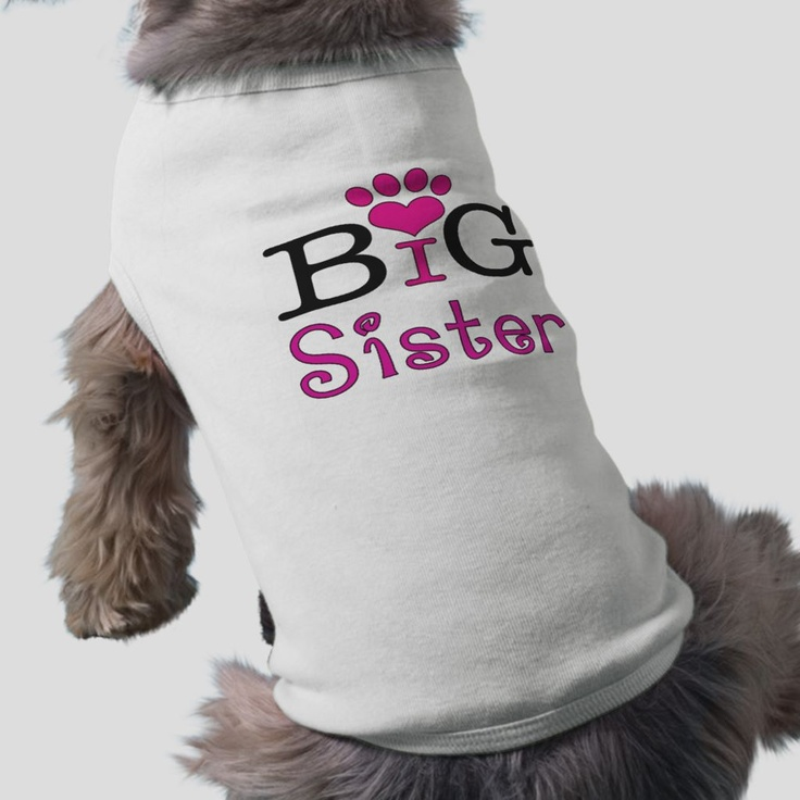 big sister dog t shirt
