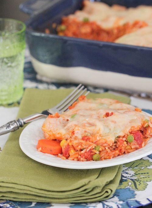 Swiss N' Chicken Vegetable Marinara Rice Bake (replace the frozen ...