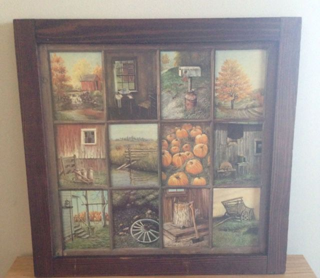 Vintage Home Interior Window Pane Picture  I think EVERYONE and their