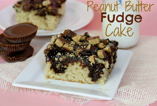 peanut butter fudge cake. | Food and Drinks | Pinterest