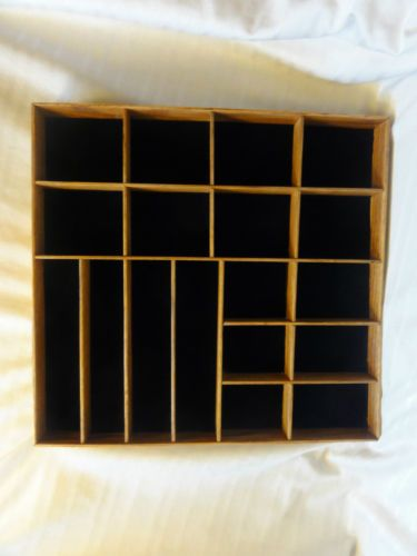 wood 18 slot divided shelf shadow box square wall hanging decor for f. Black Bedroom Furniture Sets. Home Design Ideas