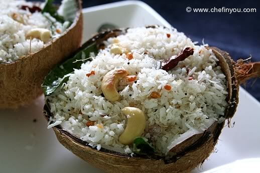 South Indian Coconut Rice | Lovely food - indian | Pinterest