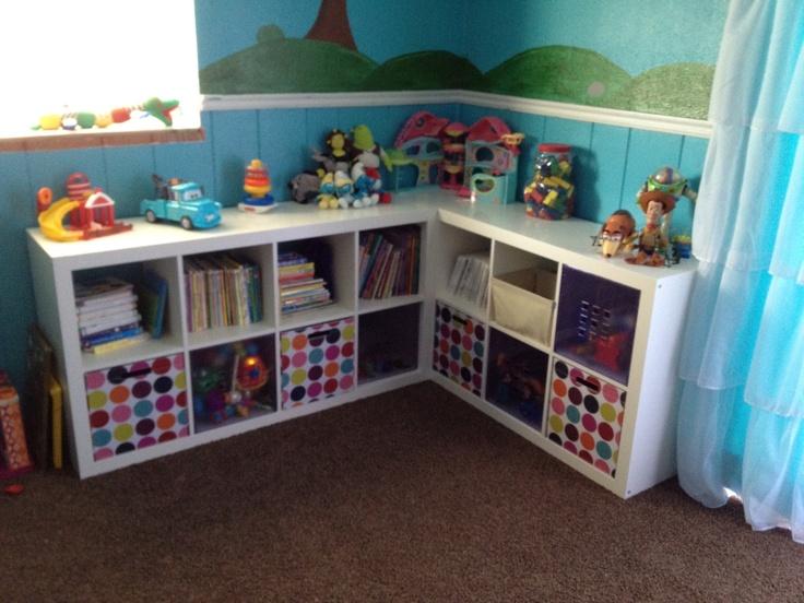 ikea expedit shelves with target baskets for paulio pinterest. Black Bedroom Furniture Sets. Home Design Ideas