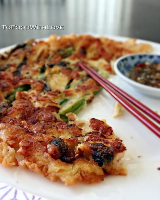Korean Pajeon (Scallion Pancake) | Asian recipes | Pinterest