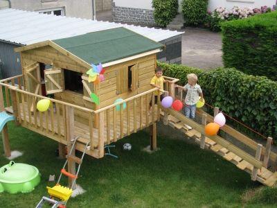 La cabane de maxence cabanes pinterest - Cabane de jardin en palette ...
