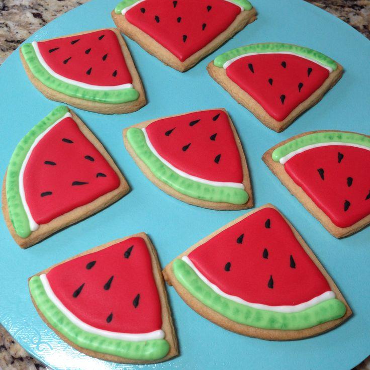Watermelon sugar cookies | Cookies I've Made | Pinterest