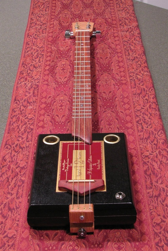 Cigar box guitar 4 string rocky patel quot aged 12 years quot