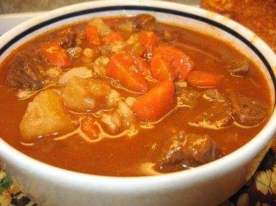 Coleen's Recipes: BEEF TOMATO-BARLEY SOUP