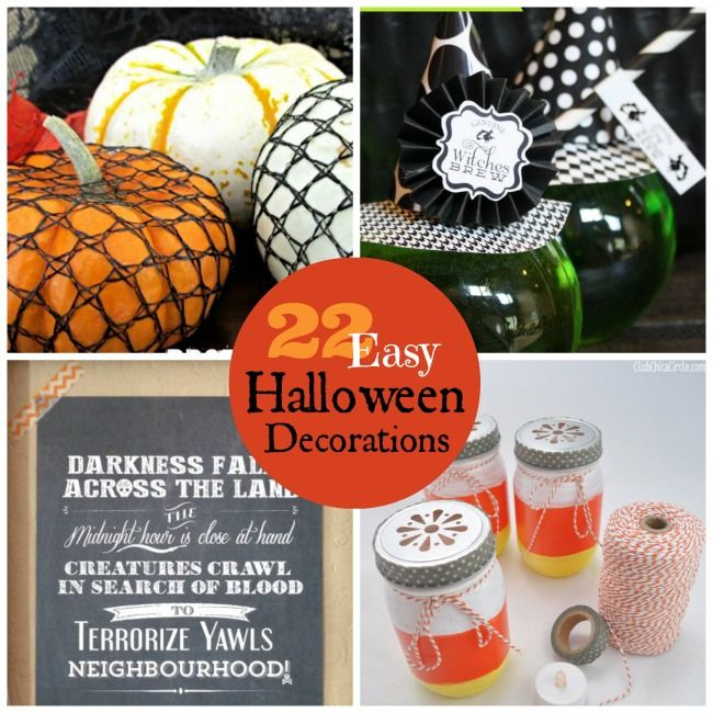 Great Ideas — 22 Easy Halloween Decorations! - Tatertots and Jello