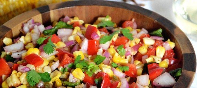 Fire Roasted Poblano Corn Salsa   Recipes   Pinterest