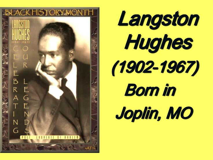 Langston Hughes 1902 1967 Born in Joplin MO most influentialLangston Hughes As A Child