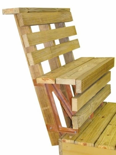 Another View Of 2x4 39 S On Prefab Brackets Deck Benches Pinterest