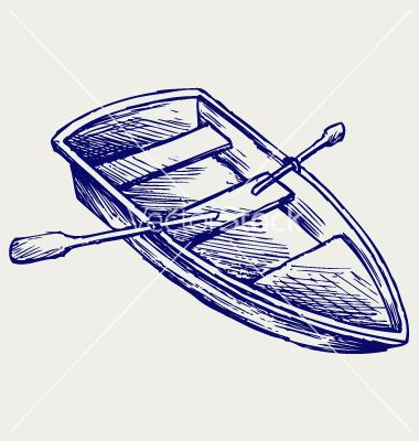 Wooden boat with paddles vector | Graphic Design - Vectors | Pinterest