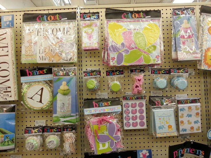 variety of different decorations for baby showers at hobby lobby