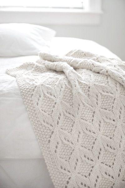 ♥ #white #knit #throw