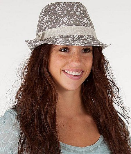 grey-printed-short-brimmed-felt-fedora-hat-for-women