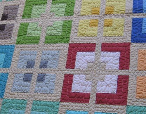 Urban Delight Modern quilt - quick and easy quilt pattern