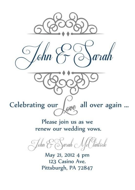 Vow Renewal Invite