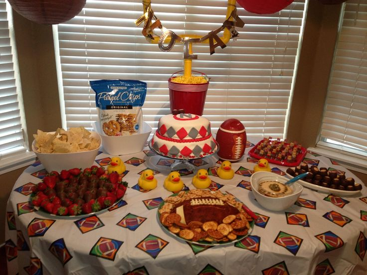 football baby shower boy baby shower ideas pinterest