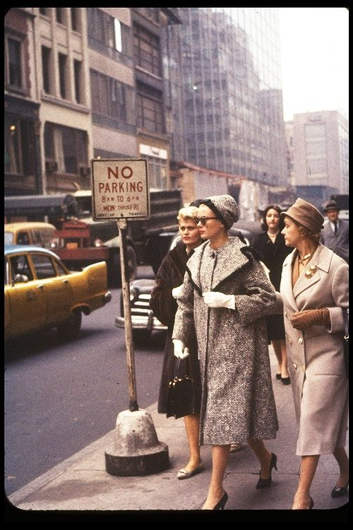Grace Kelly with her mother in New York