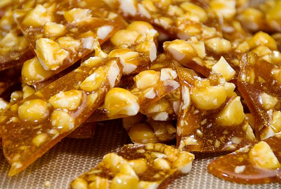 Macadamia Orange Brittle (can do hazelnuts also, like the original ...