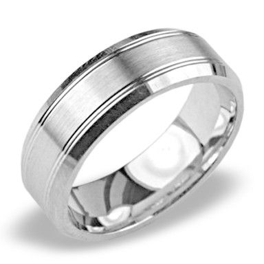 Mens Platinum Wedding Band