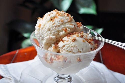 toasted coconut ice cream | homemade ice cream | Pinterest