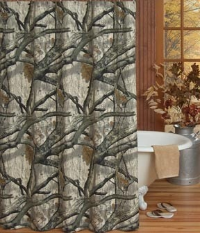 Southern sisters designs mossy oak treestand camo shower curtain