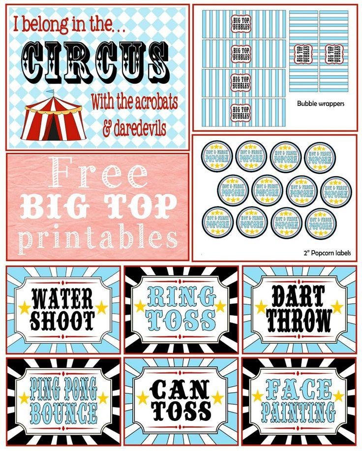 {free} circus printabl...