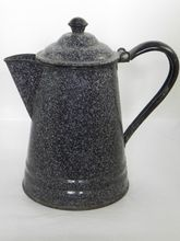 Vintage Granite Ware Speckled  Coffee Pot
