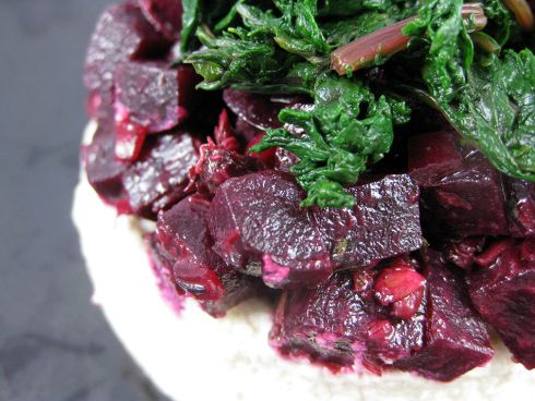 Beet Tartare with Cashew Cheese | cold and mostly vegan | Pinterest