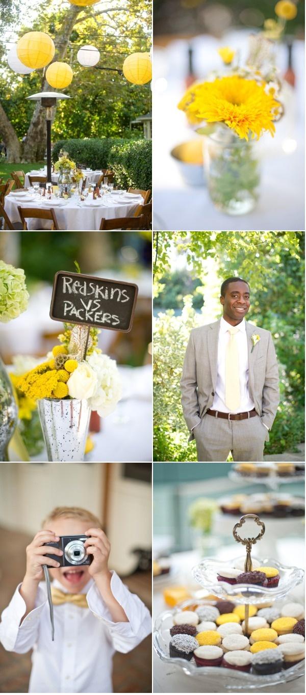 Cute Backyard Wedding Idea