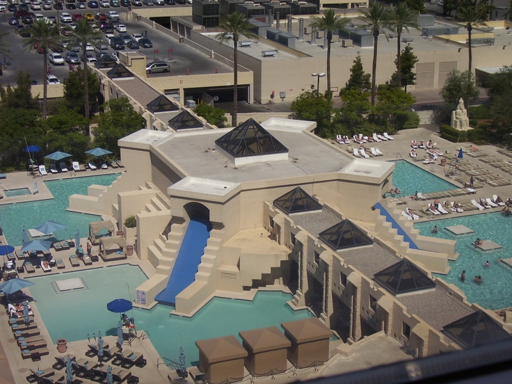 View of the luxor pool from our room places i 39 ve been - Luxor hotel las vegas swimming pool ...