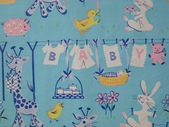 vintage baby shower gift wrap wrapping paper