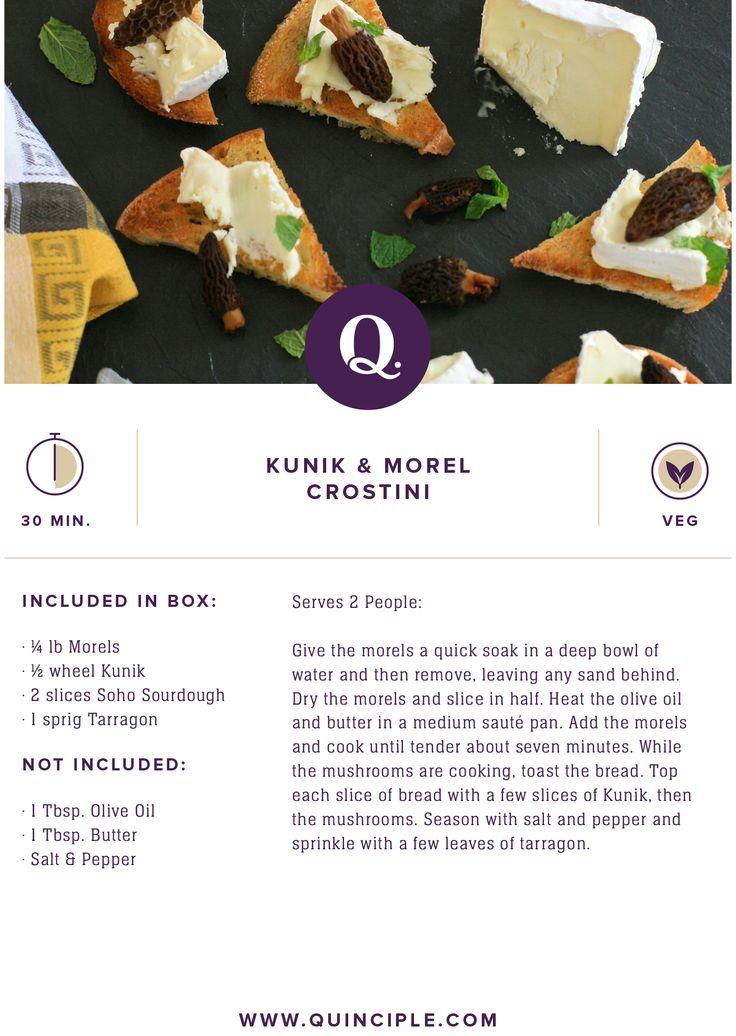 Kunik & Morel Crostini #vegetarian #appetizer