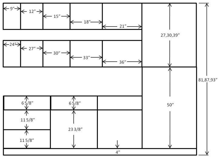Standard Kitchen Cabinet Sizes Floor Plan Ideas Pinterest