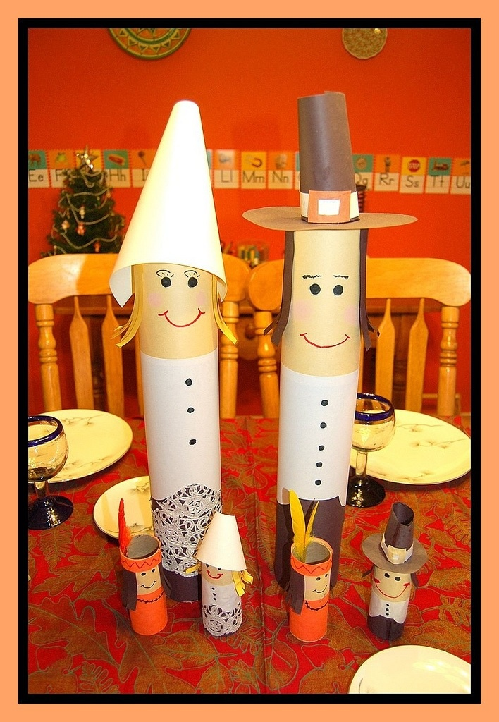 Thanksgiving Crafts with Paper Towel Tubes