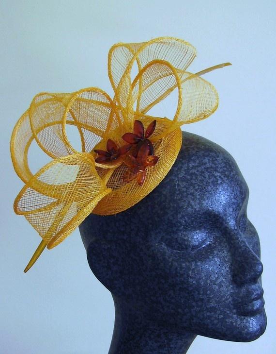 amazing yellow cocktail hat by Emma&Ella; on Etsy #cocktail #hat #katemiddleton