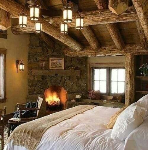 master bedroom cabin style hunting lodge pinterest