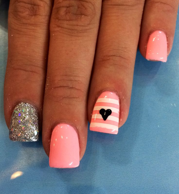 pink coral gel nail designs nail designs and nail art
