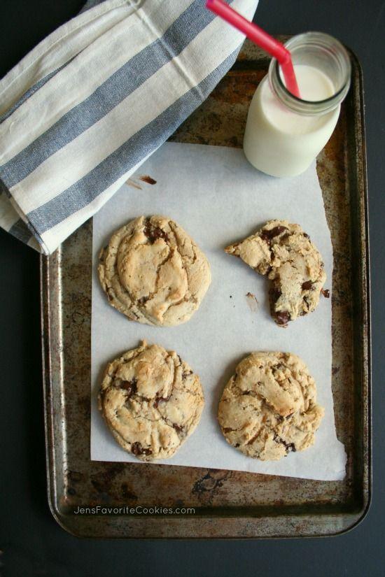 Giant Chocolate Chunk Cookies @jen's Favorite Cookies