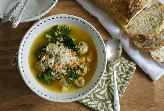 Italian Kale And Farro Soup Recipe — Dishmaps