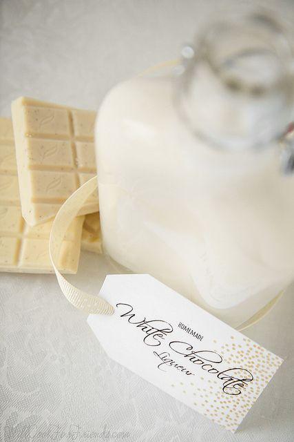 Homemade White Chocolate Liqueur | Alcohol | Pinterest