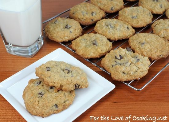 "Granola cookies with chocolate chips and coconut by ""For the Love of ..."