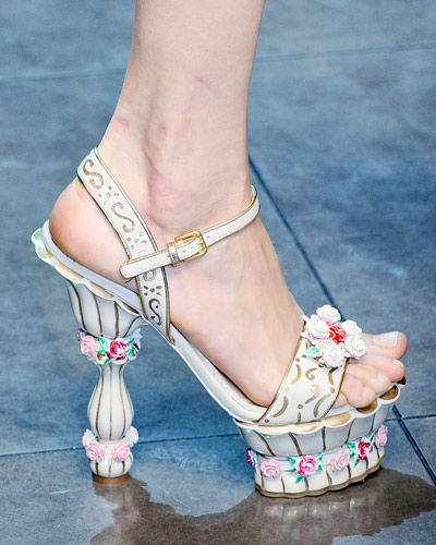 flowery shoes from D&G