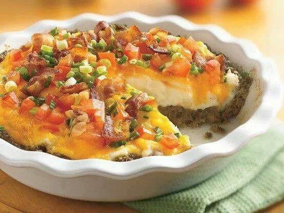Ground beef pie | main dishes | Pinterest