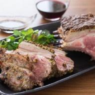 Smoked Pistachio Rack of Lamb-oven smoking recipe. I'd rather prepare ...