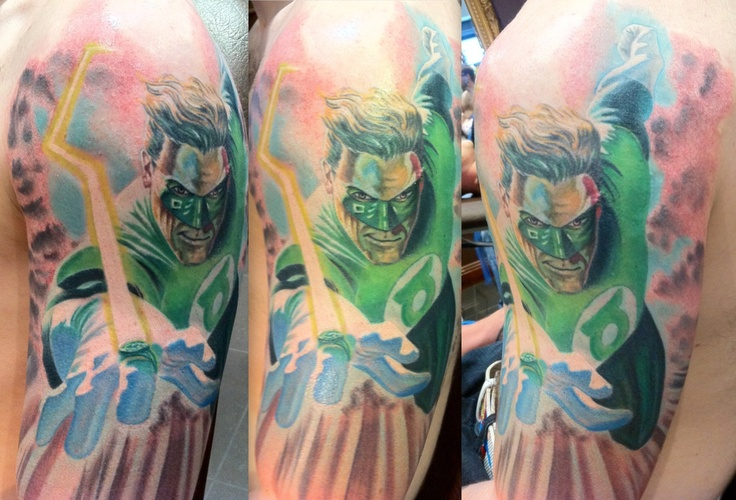 green lantern tattoo by Ian Flynn | Green lantern | Pinterest