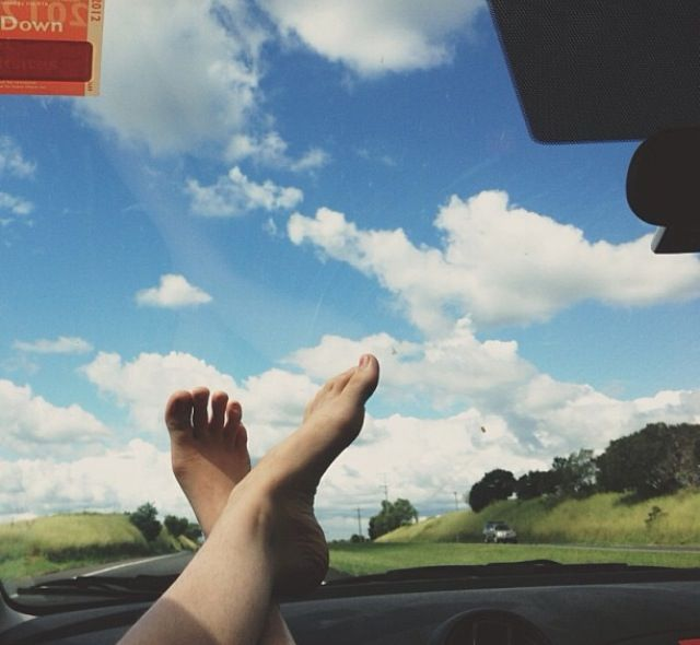 Toes in the sky